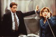 Mulder Scully Elevator Ghost in the Machine
