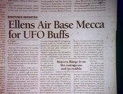 Newspaper article about Ellens Air Base
