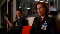 John Doggett and Dana Scully meet