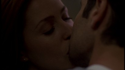 Scully&MulderFirstRealKiss