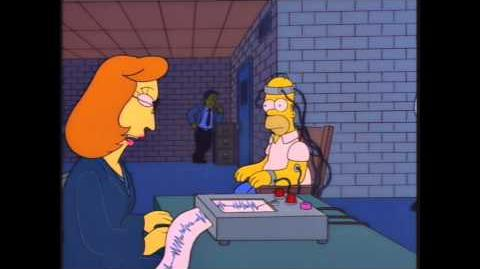 The Simpsons The Springfield Files Lie Detector Clip
