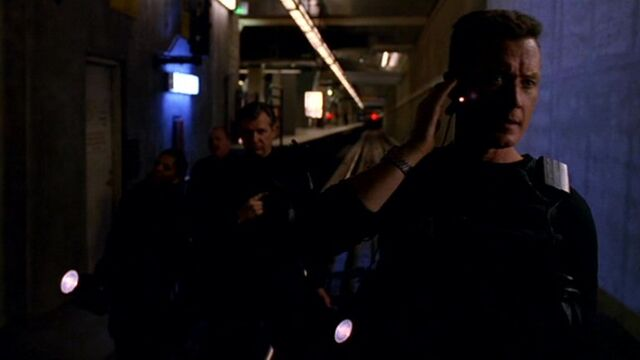 File:John Doggett leads team into Boston subway.jpg