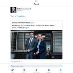 Gillian Anderson's Retweet