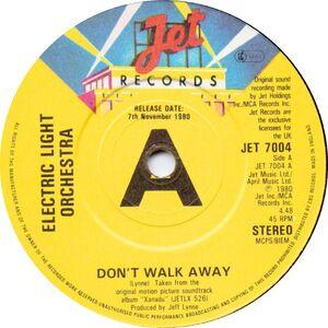 X dont walk away 45 label jet