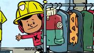 Xavier as a firefighter