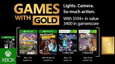 Xbox - November 2017 Games with Gold