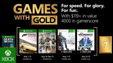 Xbox - August 2018 Games with Gold-0