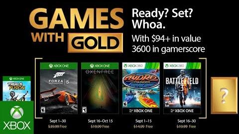 Xbox - September 2017 Games with Gold