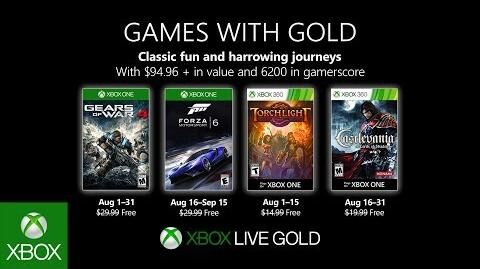 Xbox - August 2019 Games with Gold