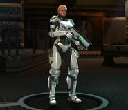 Titan Armor posing at base