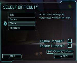 XCOM(EU) GameDifficulty