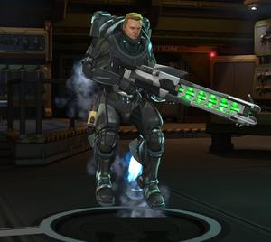 Archangel Armor posing at base