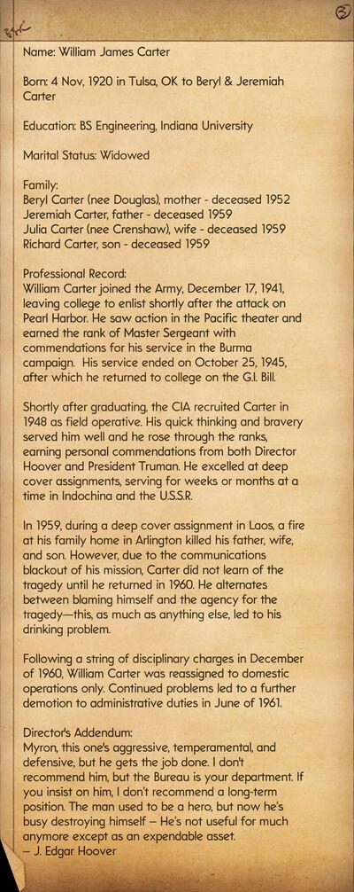 The Bureau-Profile William J. Carter
