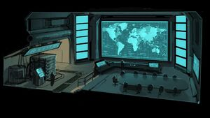 XCOM Concept Art SituationRoom2