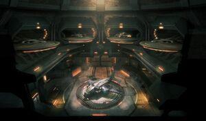 XCOM Concept Art XCOM HQ Hangar