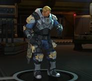 Carapace Armor pose at base