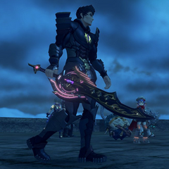 Malos's weapon, a Monado, as an Aegis