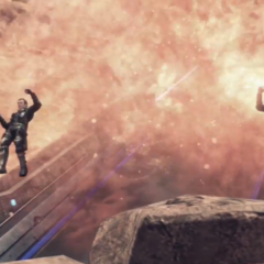 Marcus and Irina jump off an exploding Lifehold