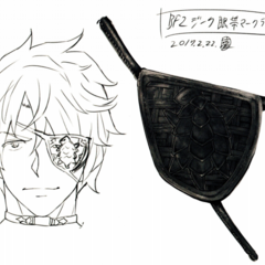 Concept art of Zeke and his eyepatch