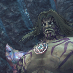 Close-up of Dickson's giant form in the <i>Definitive Edition</i>