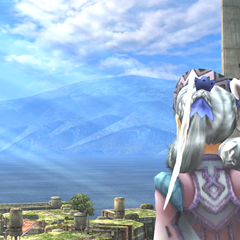 Cutscene: Melia looks out over the relocated Colony 9.