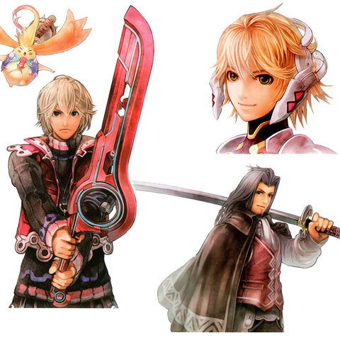 Riki, Shulk, Fiora and Dunban