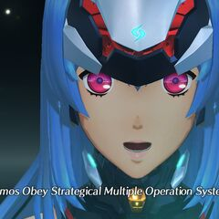KOS-MOS stating her full name