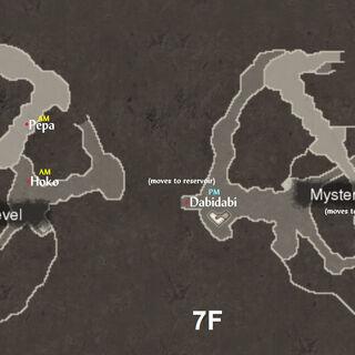 NPC locations in Frontier Village 2