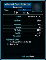 Weapon - Melee - Longsword - Advanced Chromoly Spatha