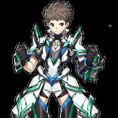 Rex's Master Driver armor official artwork