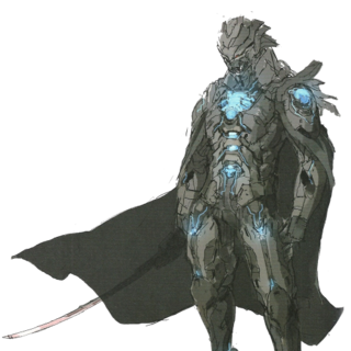 A full portrait of the Black Knight from the game's concept art