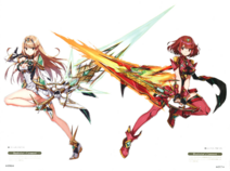 Aegis swords Pyra Mythra