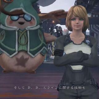 Mia alongside Tatsu