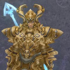 Shulk in Heavy Ledios Armor