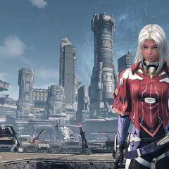 Elma standing in front of NLA