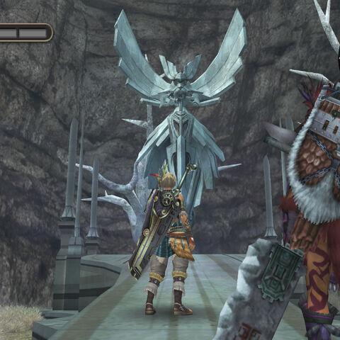 A closer look at the War God replica statue