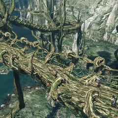 Bridges made out of branches