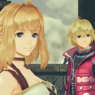 Fiora and Shulk as they appear in <i>Xenoblade Chronicles 2</i>