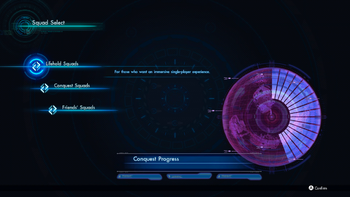 Squad Select screen