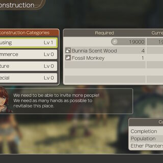 Colony 6 Reconstruction menu