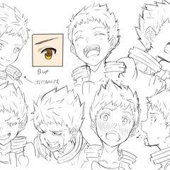 Rex's facial expressions