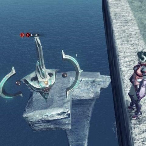An Enhanced Barrager Zig on a platform beneath <a href=