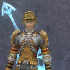 Shulk in Medium Lancelot Armor