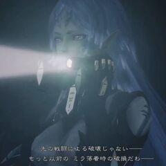 Elma holding a flashlight