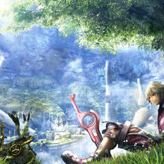 Official art of Shulk outside Colony 9