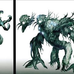 Concept art of Guldo enemies
