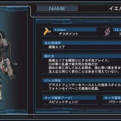 Yelv character infobox in the Japanese version