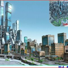Concept Art of an early version of New Los Angeles