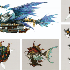 Concept art of various Titan ships