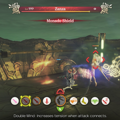 Zanza using Monado Shield